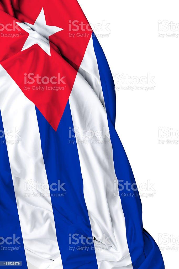 Cuba waving flag on white background stock photo