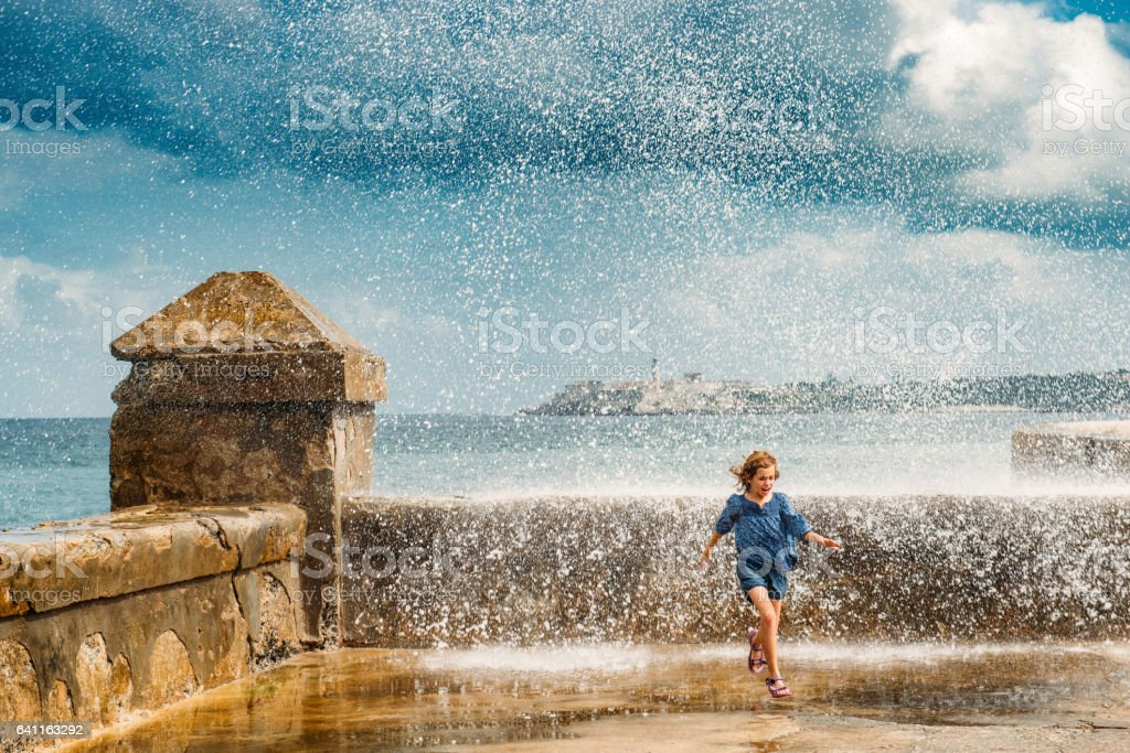 Cuba with Children stock photo
