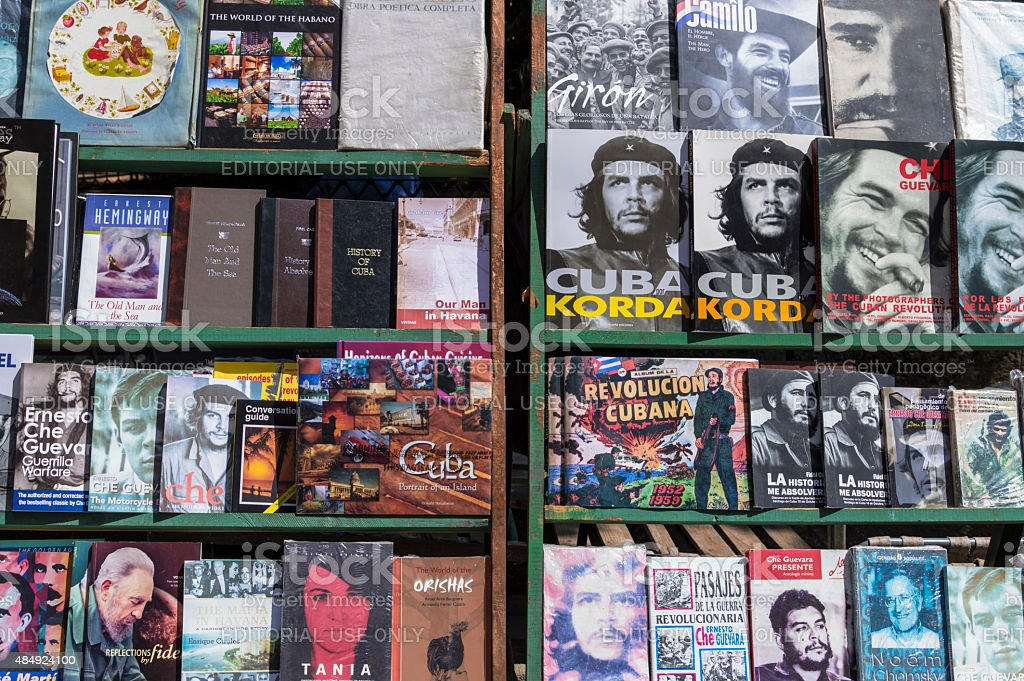 Cuban books stock photo