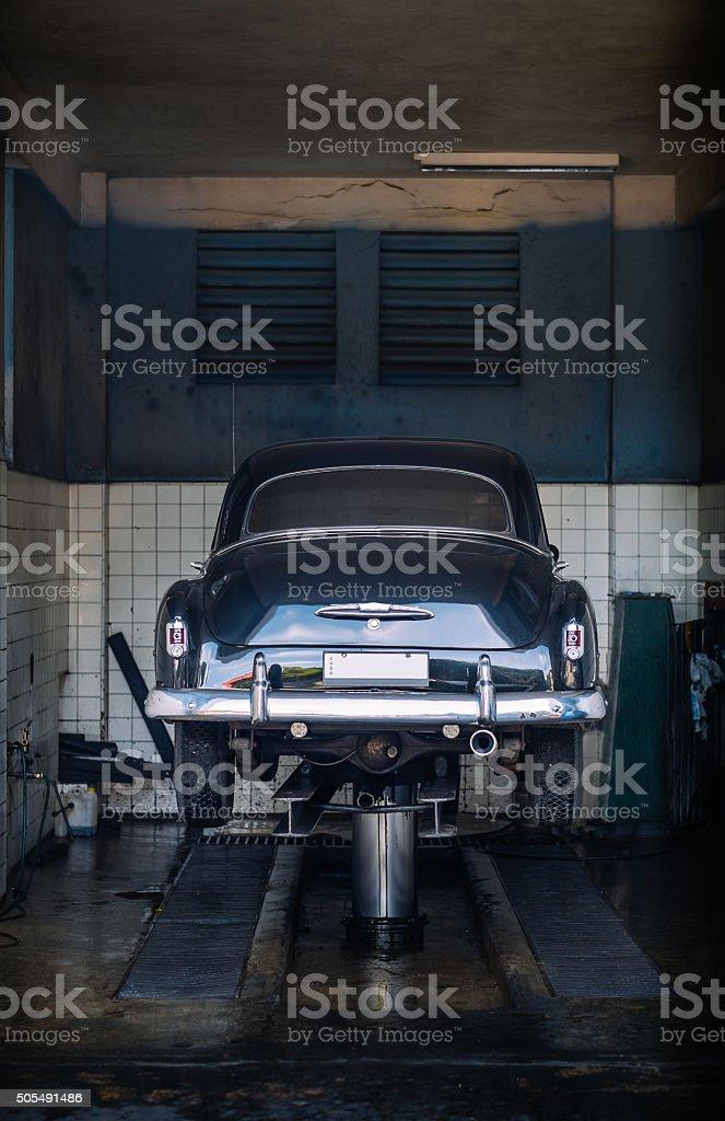 Cuban Car Wash stock photo