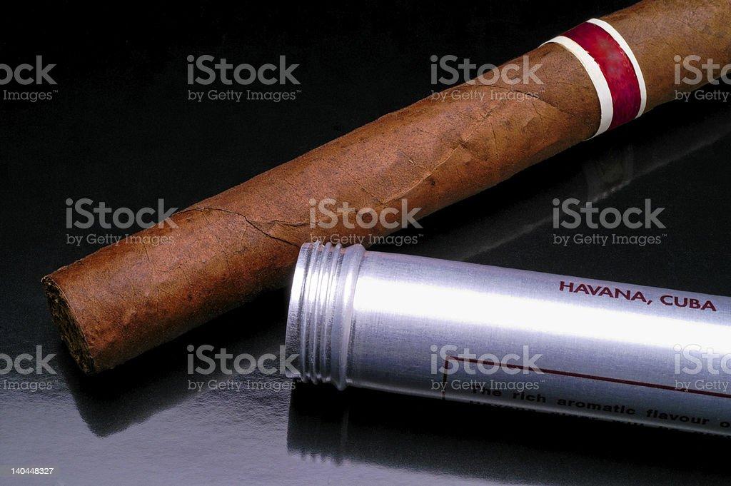 Cuban cigar closeup (2) royalty-free stock photo