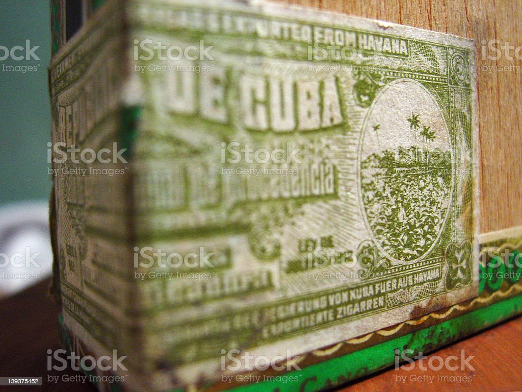 Cuban Cigar seal stock photo