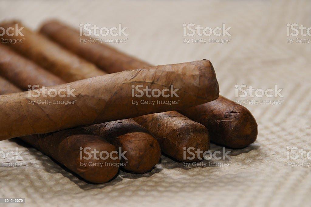 Cuban cigars stock photo