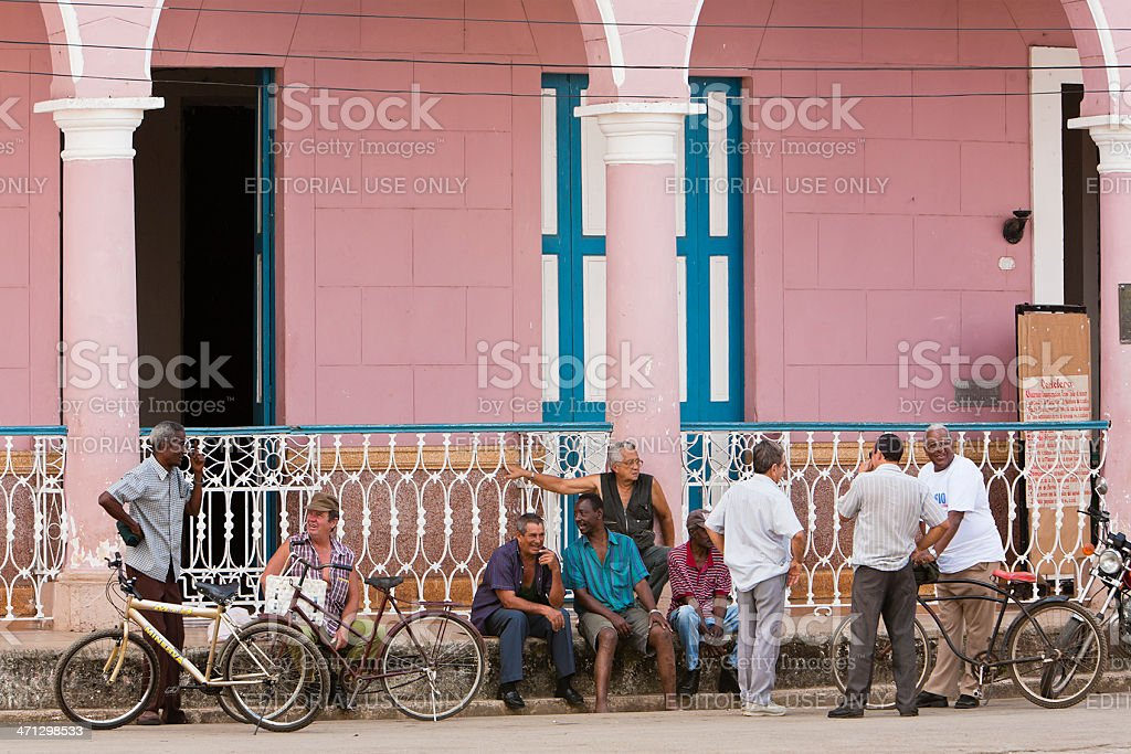 Cuban City Life, Remedios stock photo
