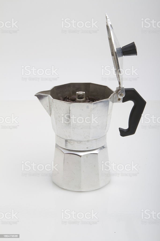Cuban Coffee colador de cafe royalty-free stock photo
