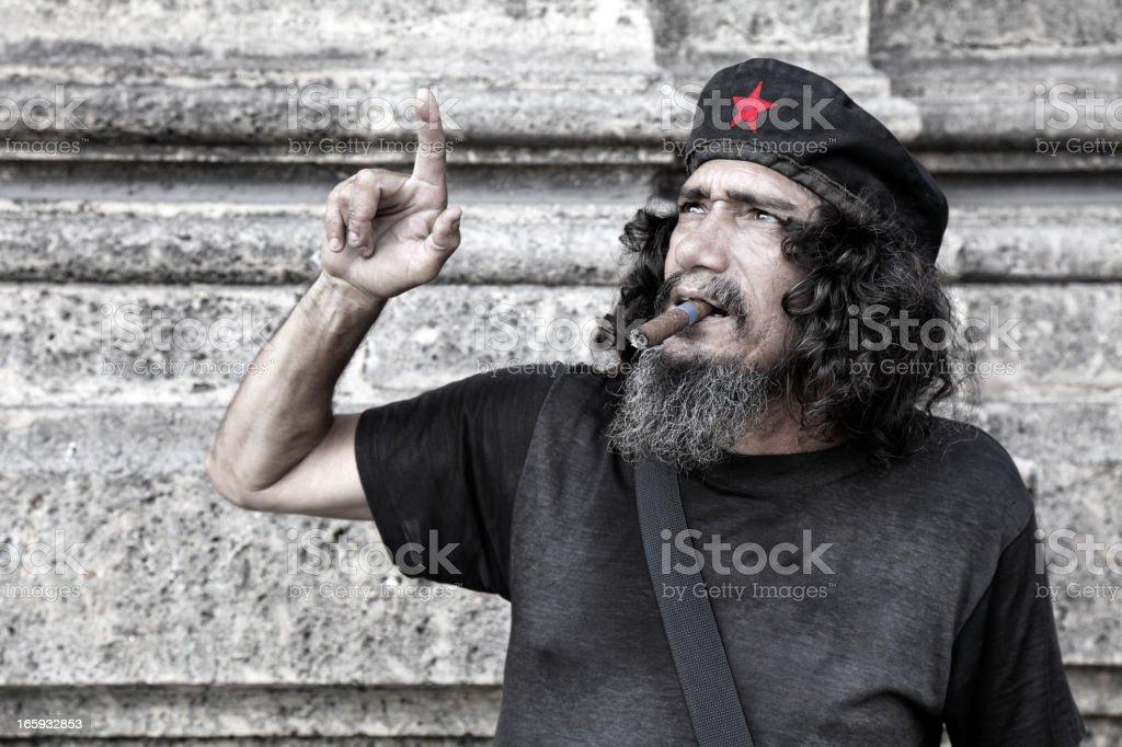 Cuban communist royalty-free stock photo