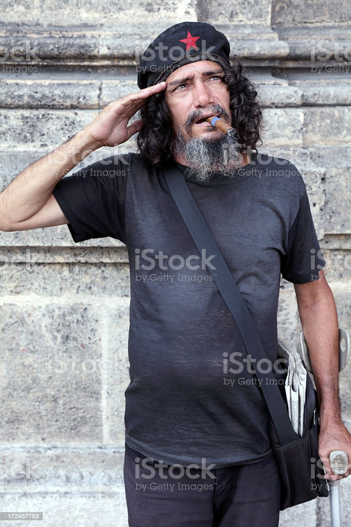 Cuban communist salute stock photo
