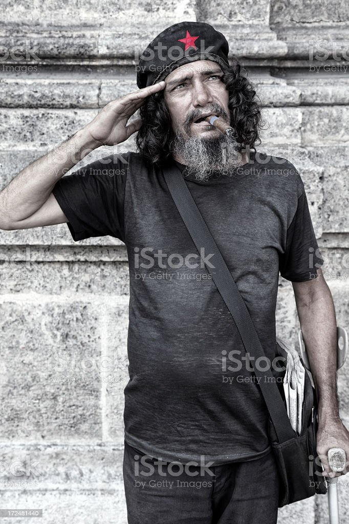 Cuban communist salute royalty-free stock photo