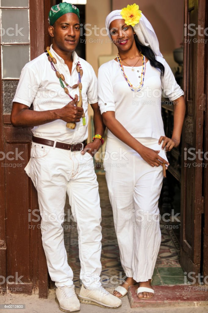 Cuban Couple stock photo