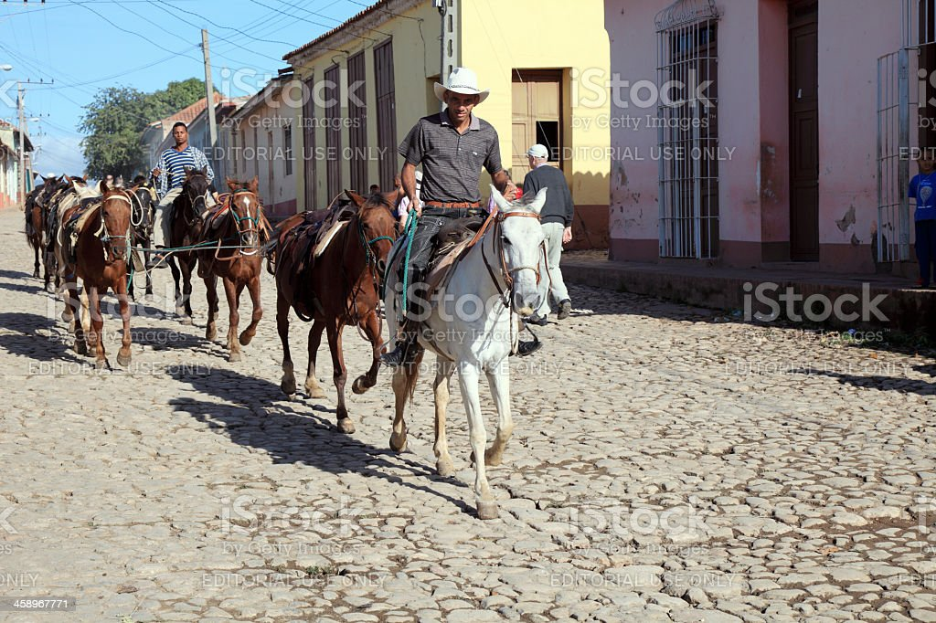 Cuban cowboys royalty-free stock photo