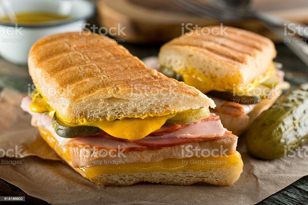 Cuban Cubano Sandwich stock photo