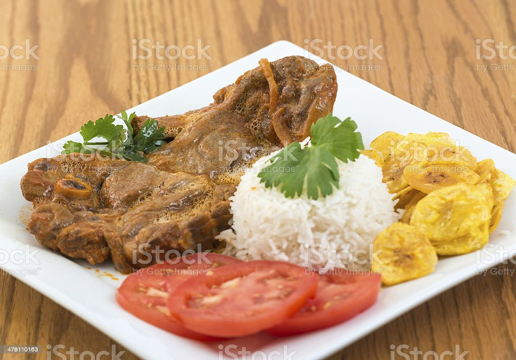 Cuban Cuisine: Stewed Lamb Dish royalty-free stock photo