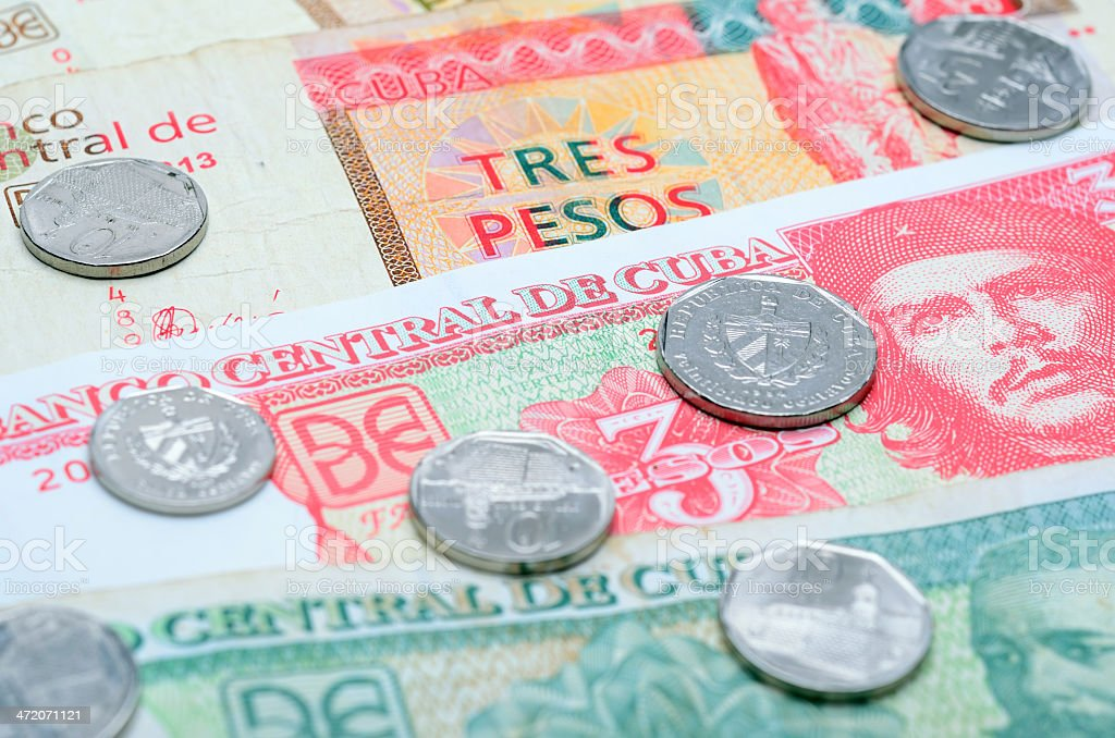 Cuban Currency stock photo