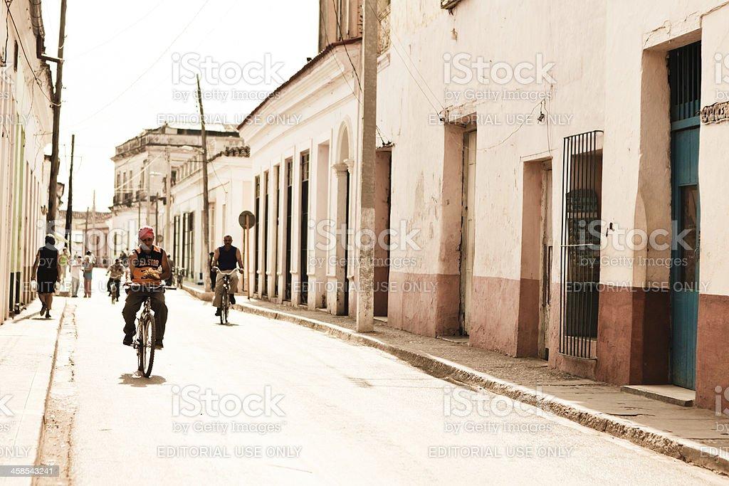 Cuban Cyclists royalty-free stock photo