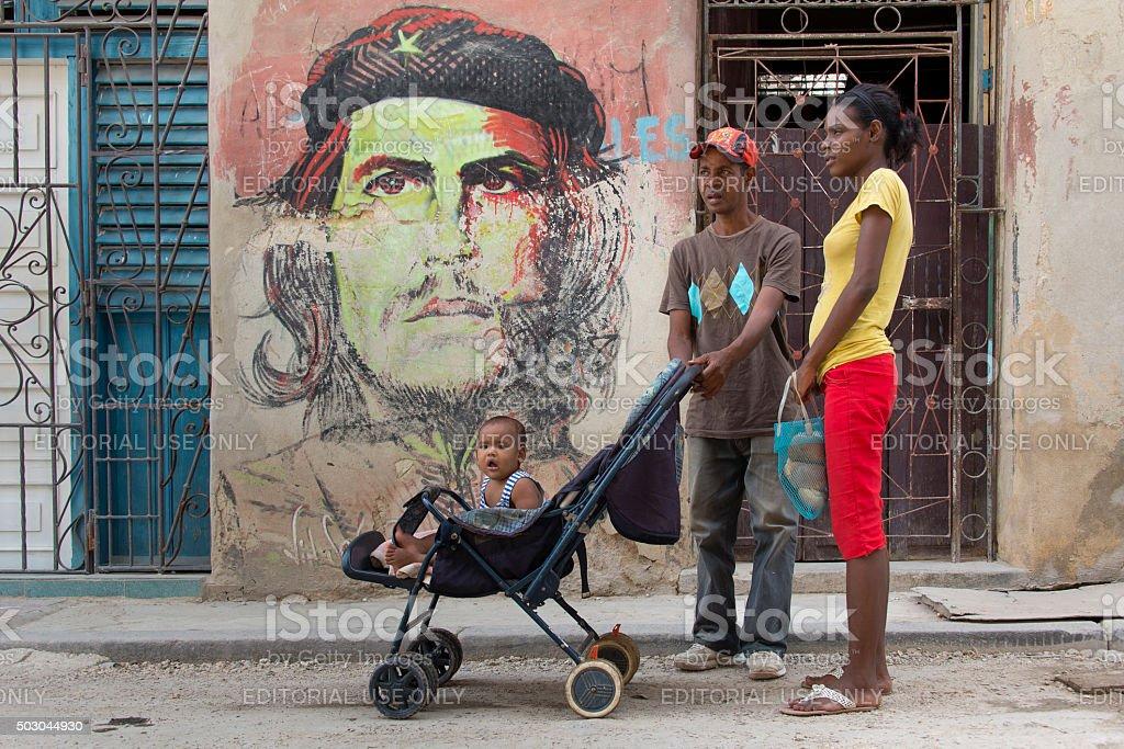 Cuban family stock photo