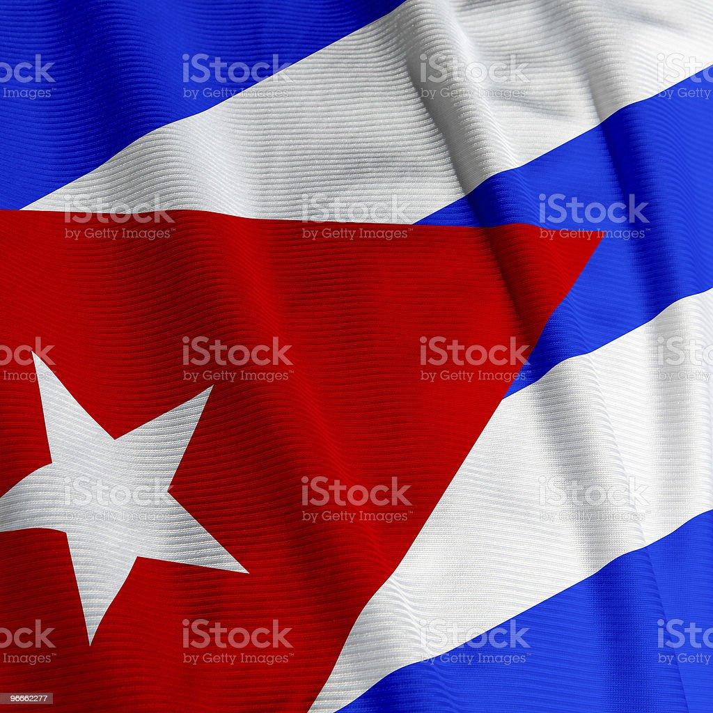 Cuban Flag Closeup royalty-free stock photo