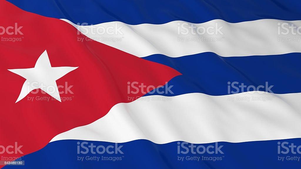 Cuban Flag HD Background - Flag of Cuba 3D Illustration stock photo