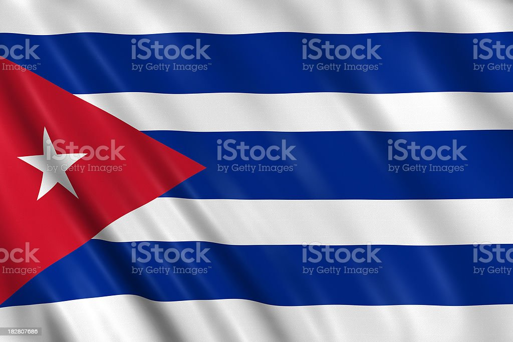 cuban flag royalty-free stock photo