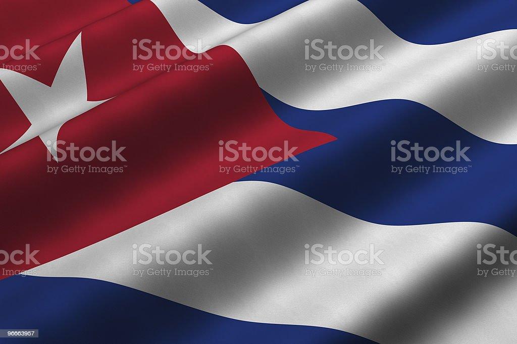 Cuban Flag stock photo