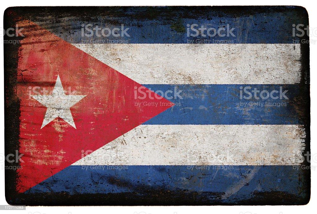 Cuban Flag XXL stock photo