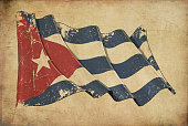 Cuban Grunge Flag Textured Background Wallpaper