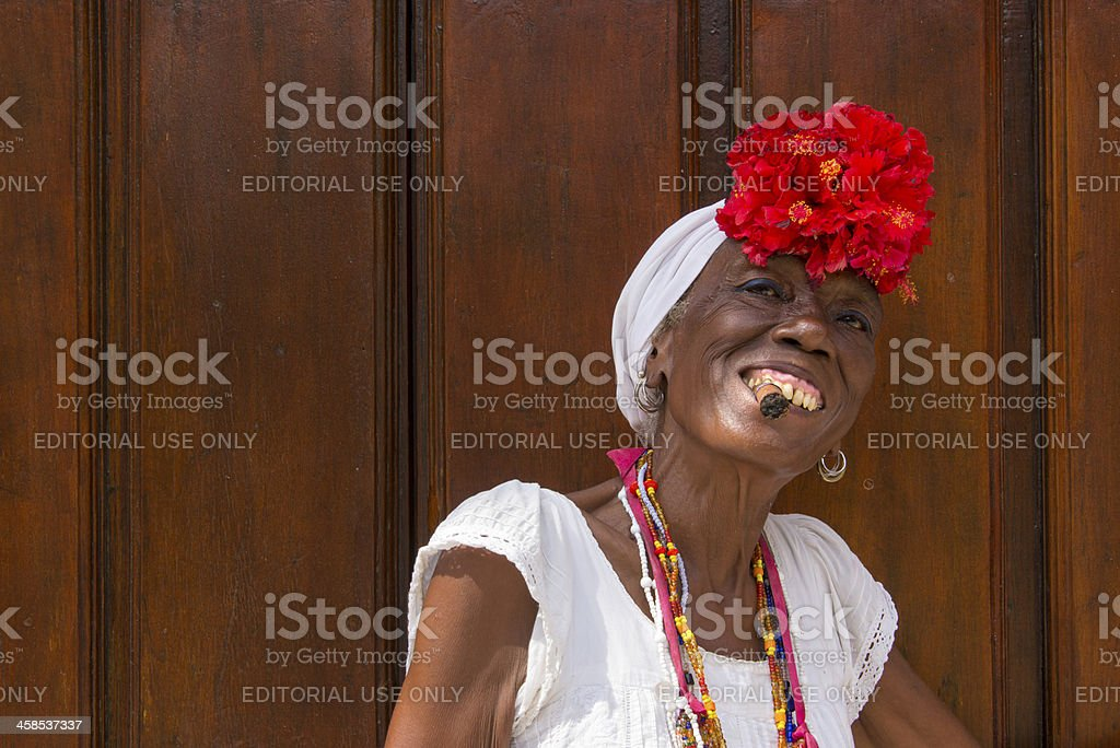 Cuban Lady royalty-free stock photo
