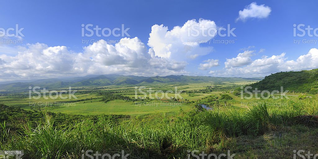 Cuban landscape panorama royalty-free stock photo