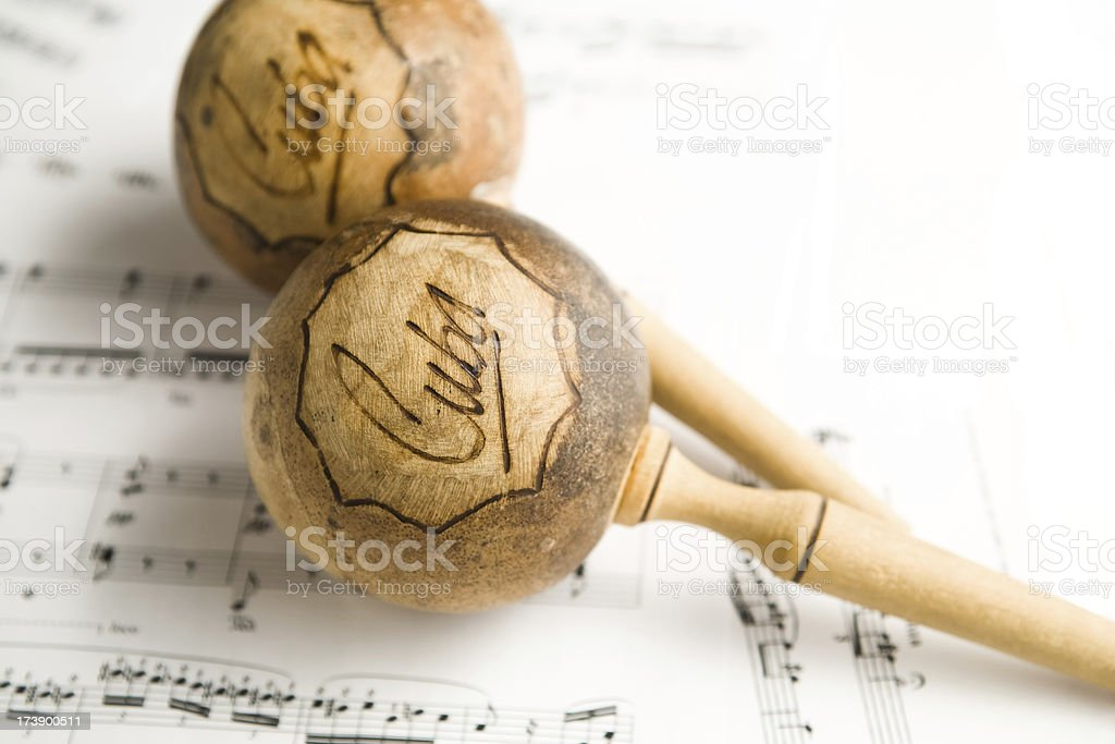 Cuban marakas royalty-free stock photo