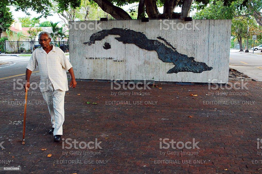 Cuban Memrial, Miami stock photo