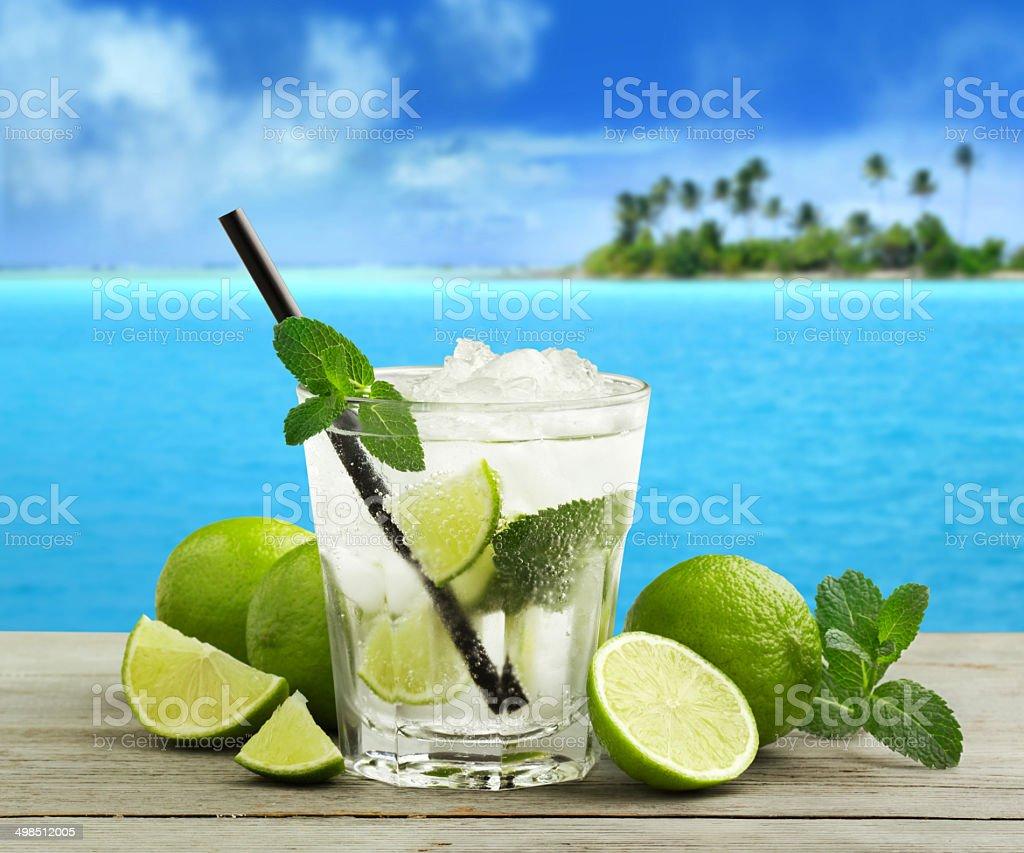 cuban mojito stock photo