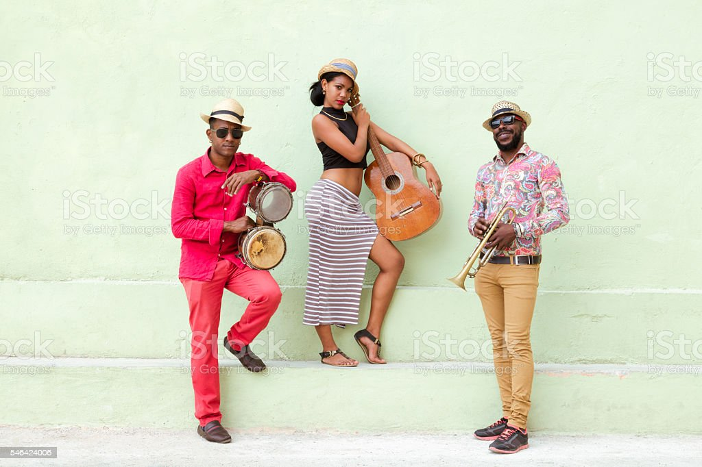 Cuban Musical Band Outdoors stock photo