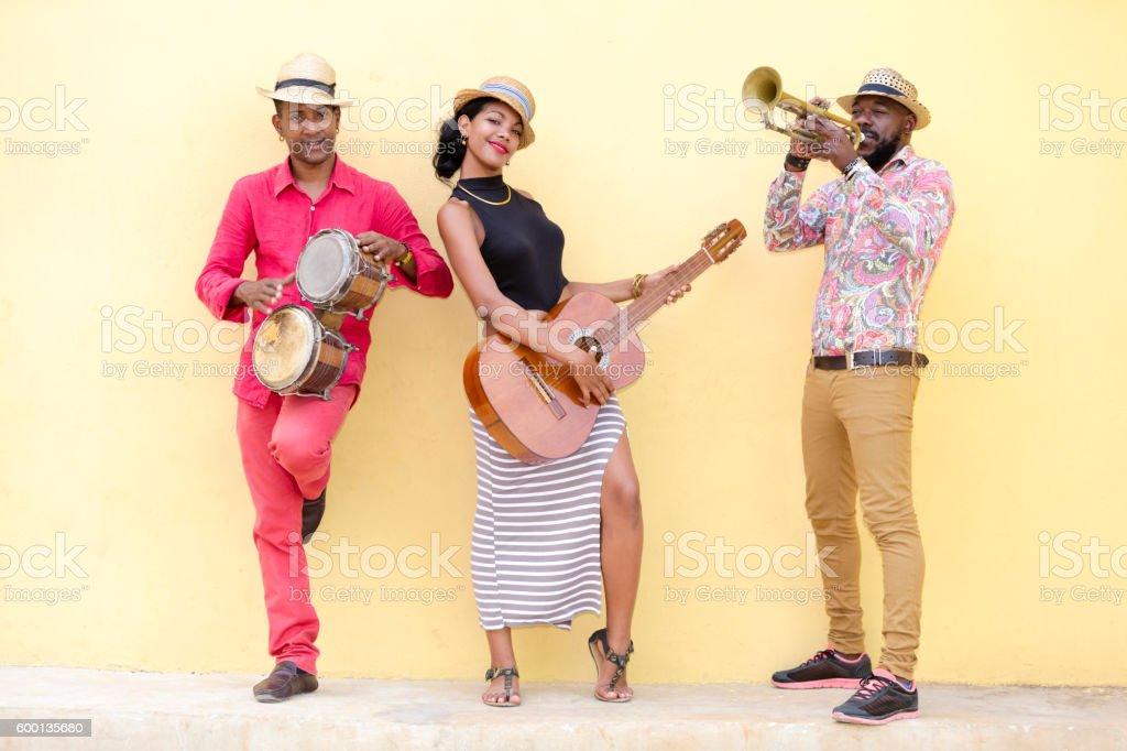 Cuban Musical Band stock photo