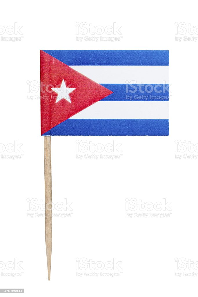 Cuban paper flag stock photo