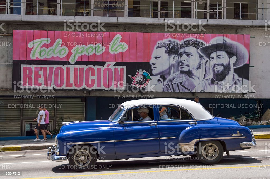 Cuban revolution billboard stock photo