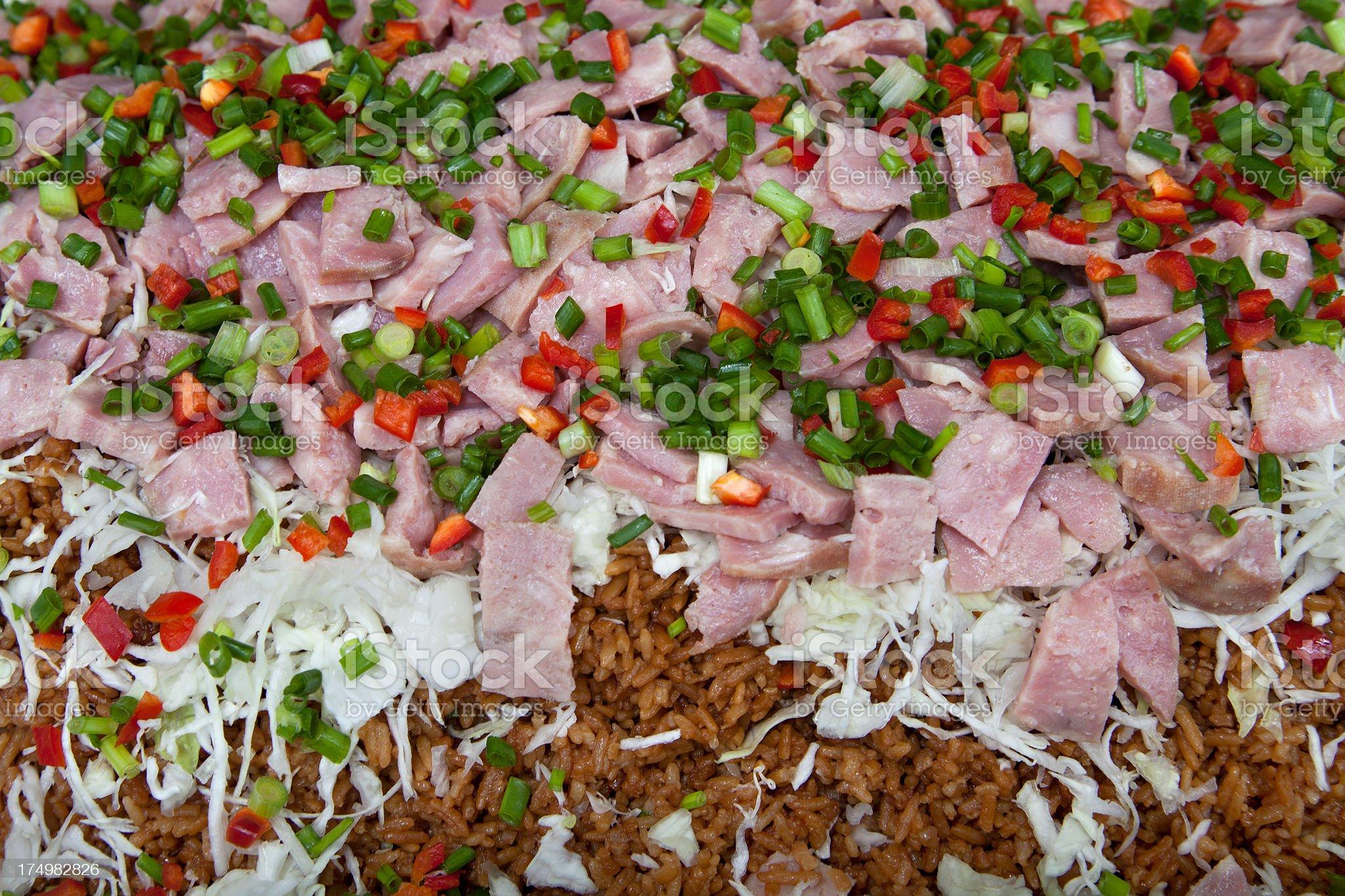 Cuban rice royalty-free stock photo