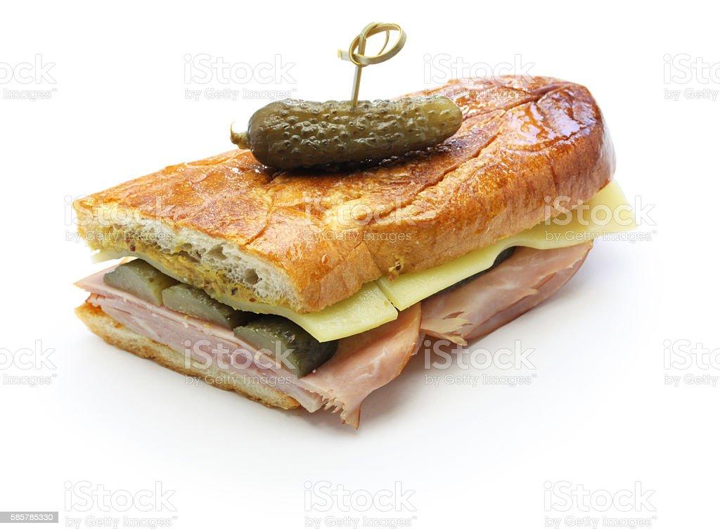 cuban sandwich, cuban mix, cuban pressed sandwich stock photo