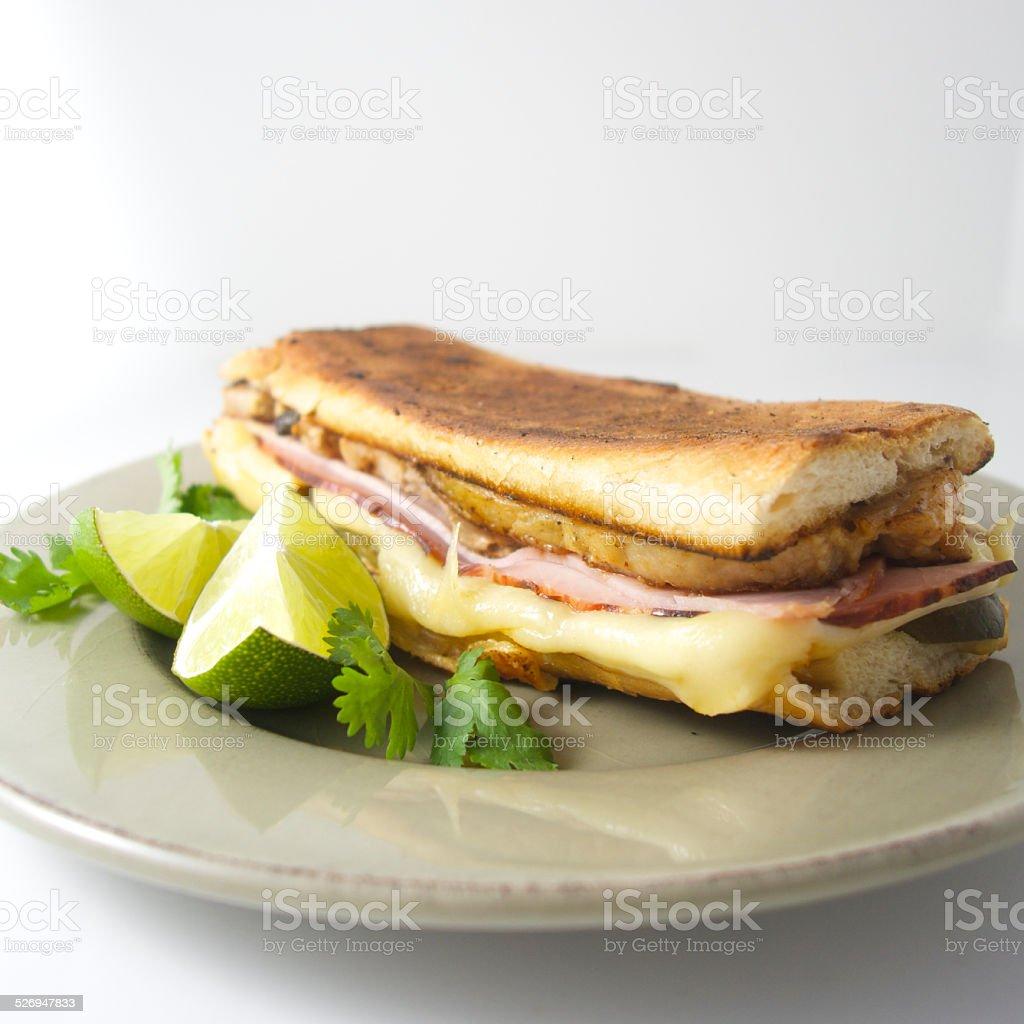Cuban sandwich, el cubano stock photo