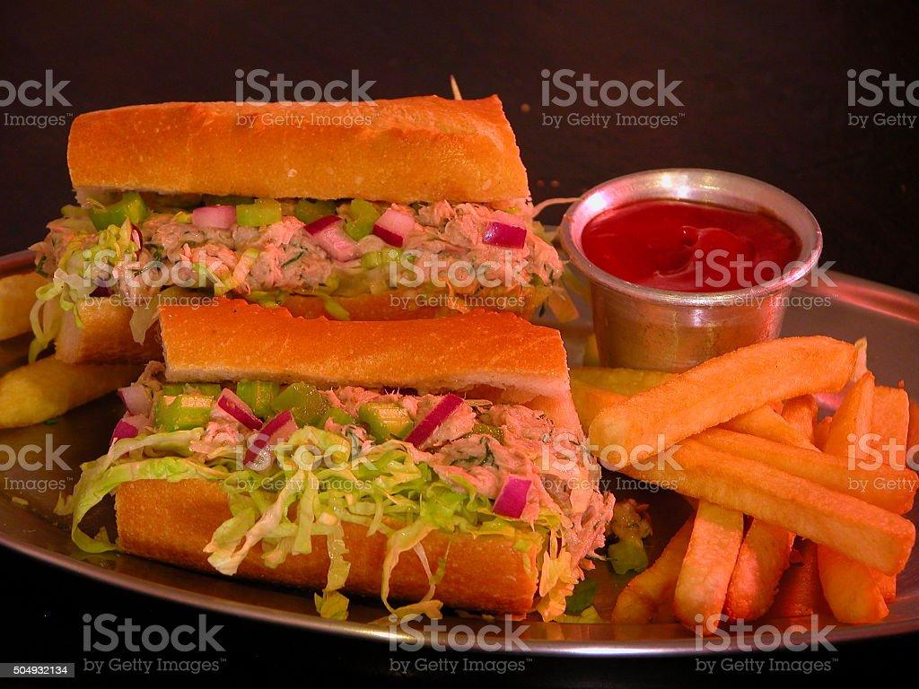 Cuban Sandwich Recipe with Tuna stock photo