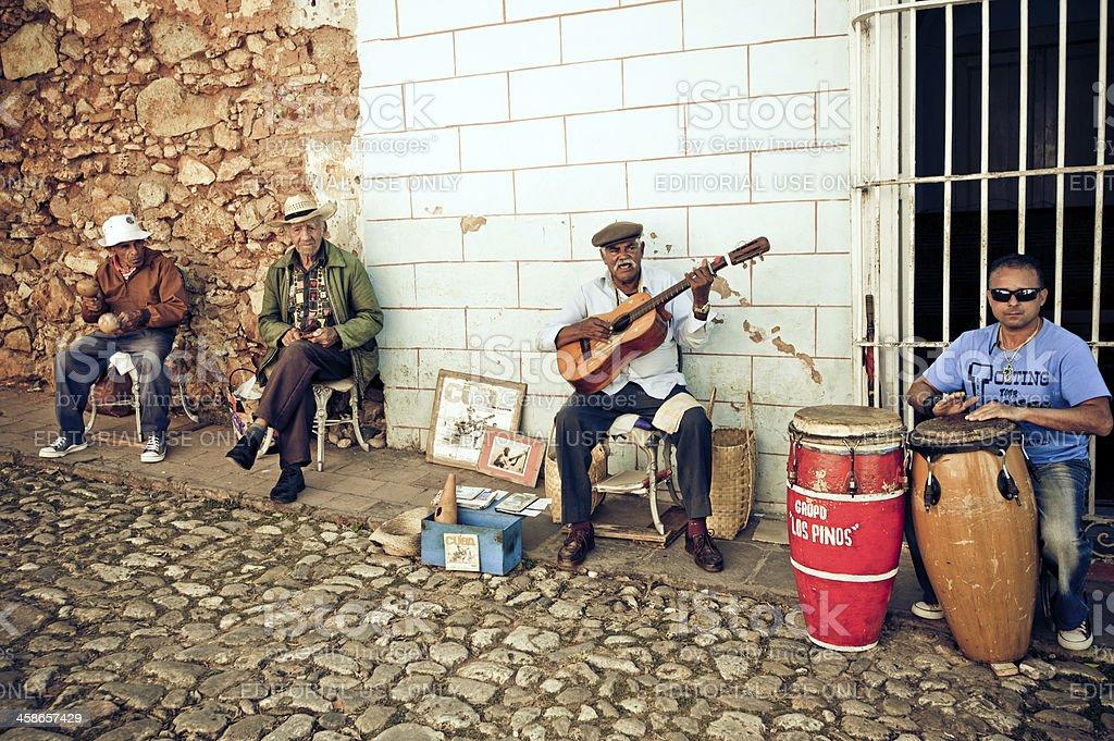 Cuban street band stock photo