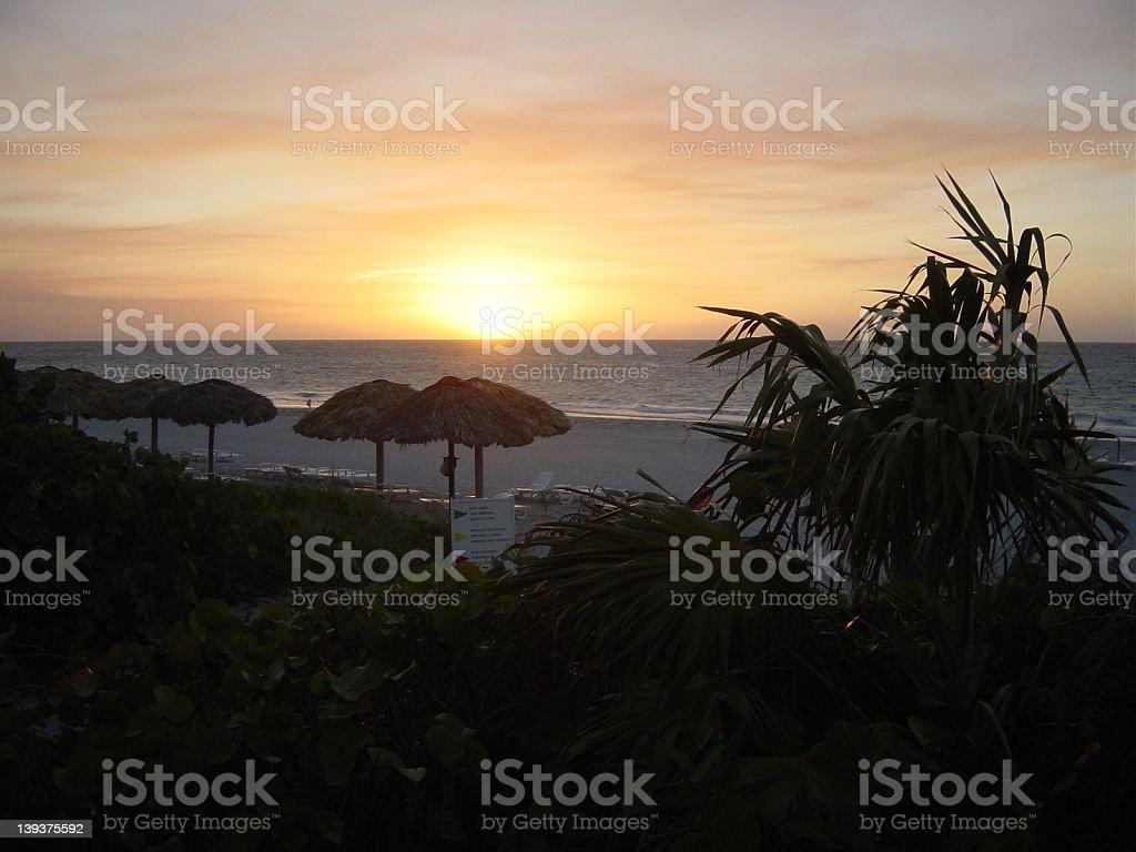 Cuban Sunset royalty-free stock photo