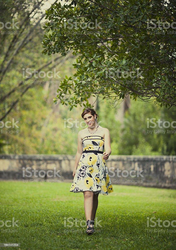 cuban teen girl stock photo