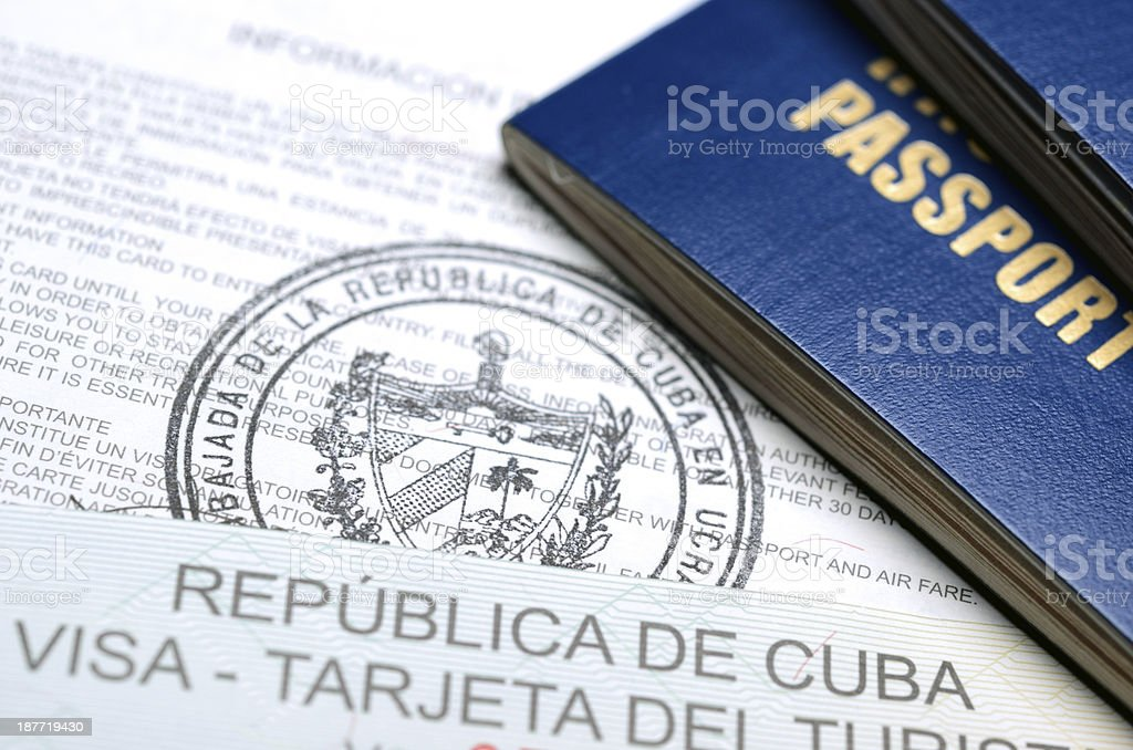 Cuban Visa royalty-free stock photo
