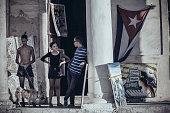 Cubans on Malecon
