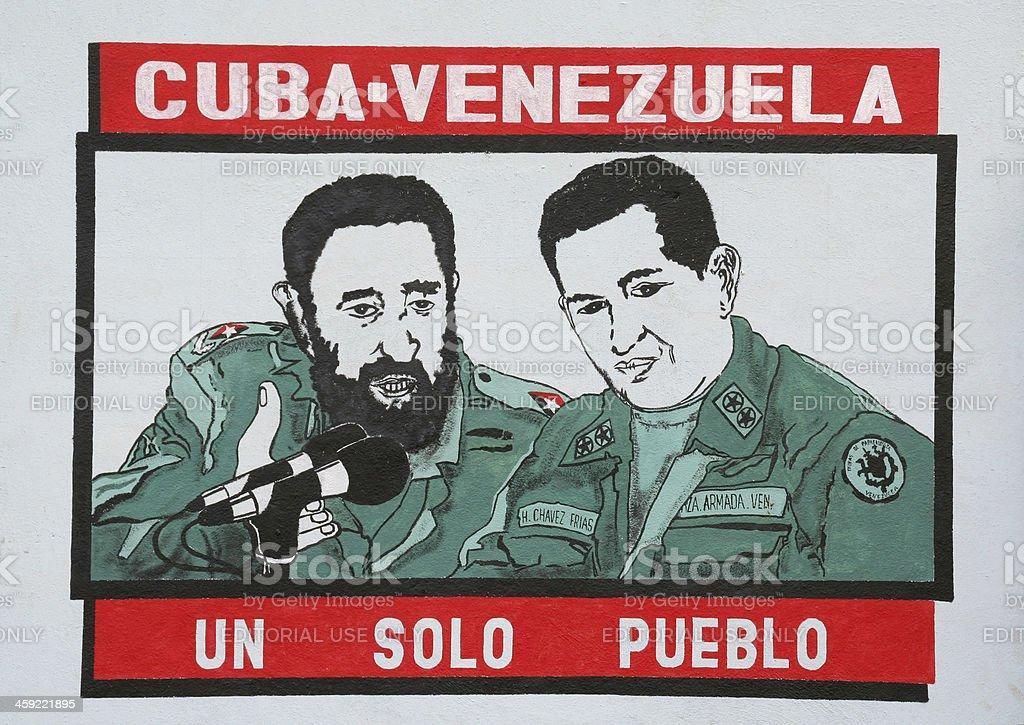 Cuban-Venezuela Political sign stock photo