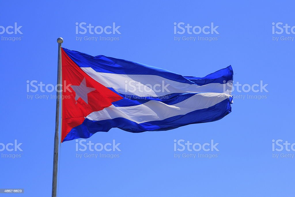 Cuba's national flag royalty-free stock photo