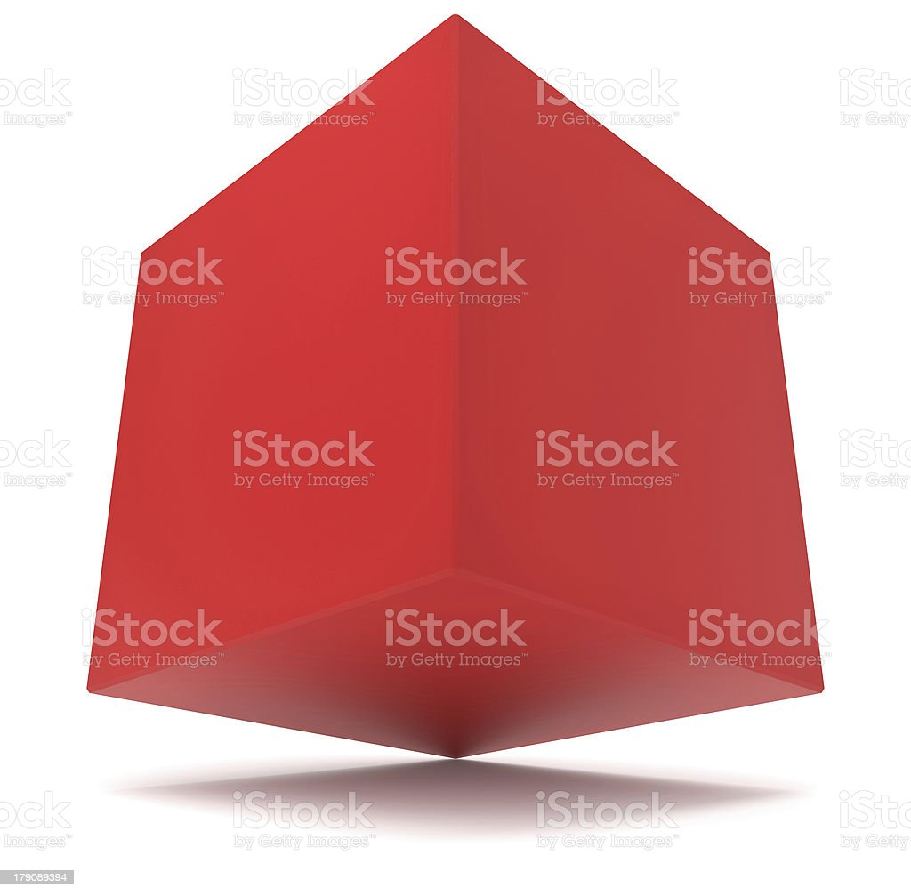 cube 3d red royalty-free stock photo