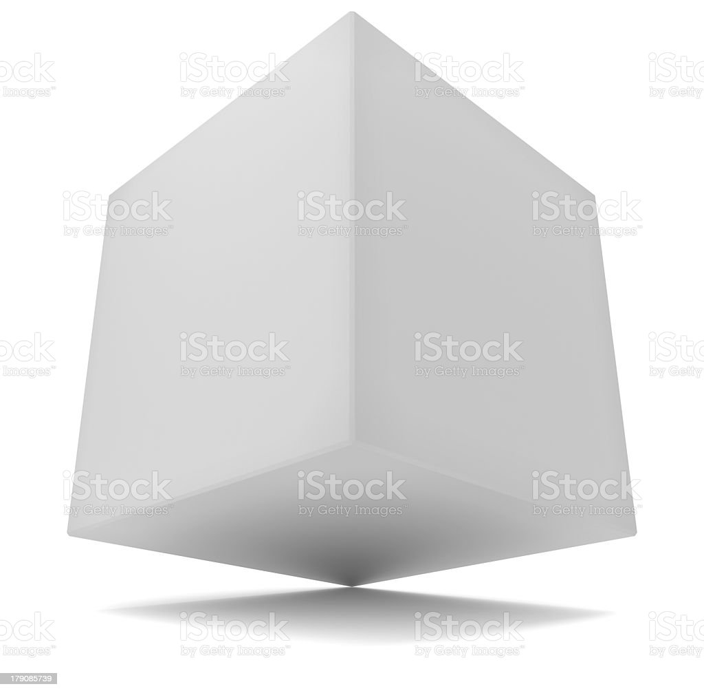 cube 3d white royalty-free stock photo