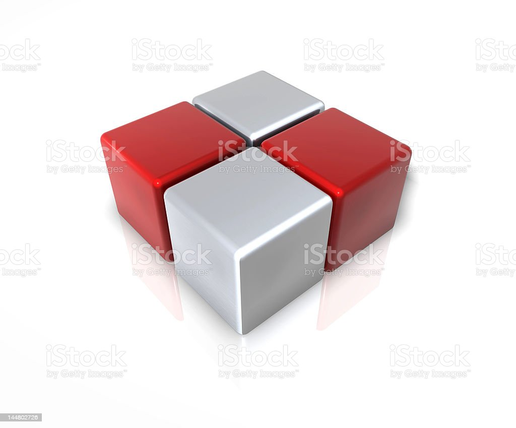 Cube Abstract royalty-free stock photo