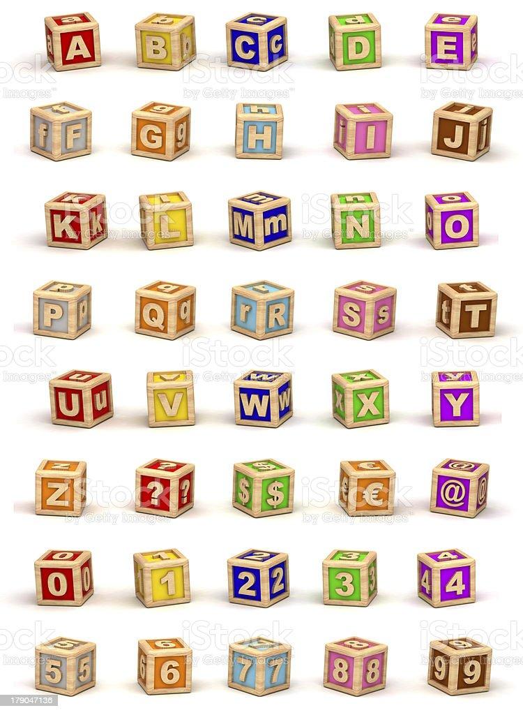 Cube Alphabet stock photo