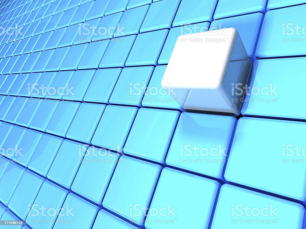 Cube assembling from blocks royalty-free stock photo